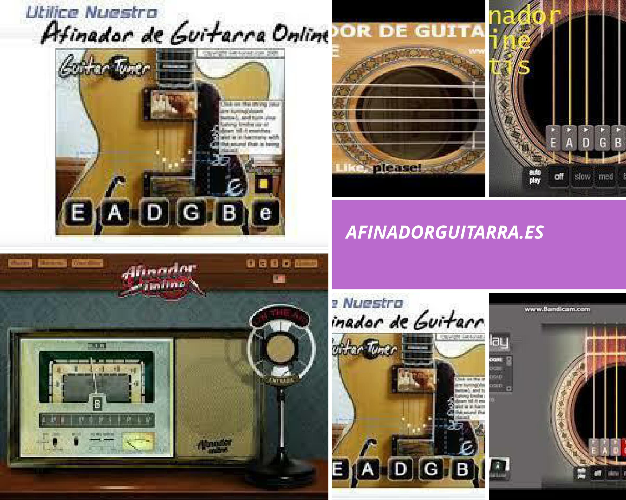 Afinadores de guitarra